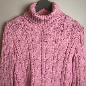 Ralph Lauren Pink Cableknit Sweater, Medium